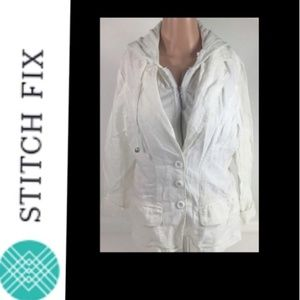 Stitch Fix miilla jacket womens small white NWT$98